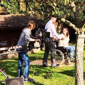 behind the scenes on the patient protection TV advertising campaign shoot